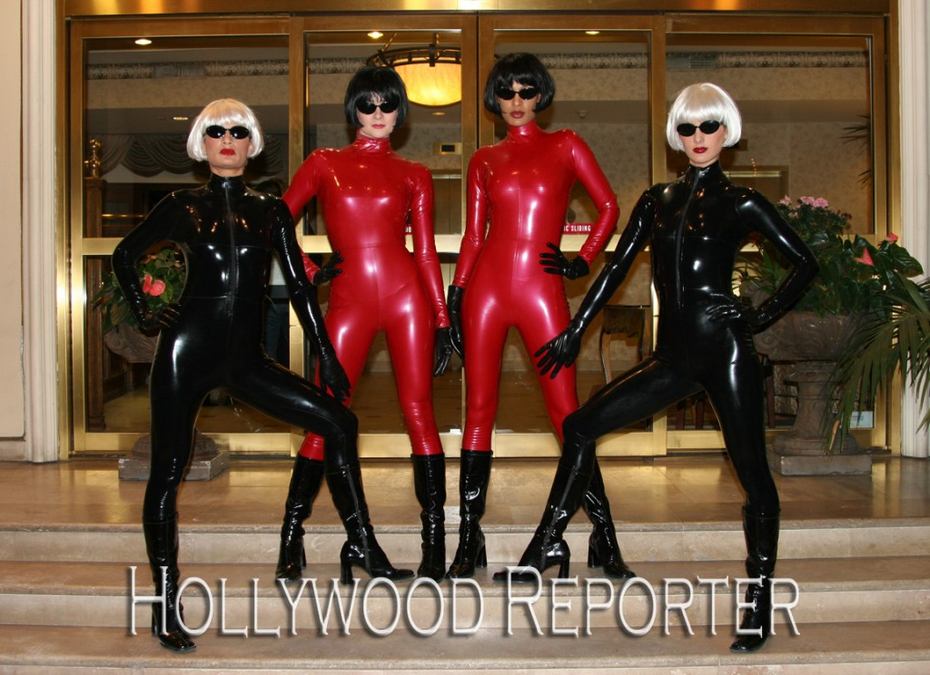 the attitude girls working at a Beverly Hills party for Hollywood Reporter